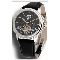Perigaum Excalibur Dual Time Zone Watch - Black Dial - 0502SSS [Watch] Perigaum