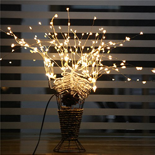 33ft-Fairy-String-Lights-132-LEDs-Copper-Wire-Lights-Remote-Control-And-TimingFlexible-Starry ...