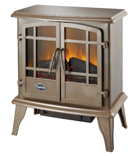 B0085TAMH4 Comfort Glow, ES5132 Keystone Electric Stove with Thermostat, Bronze Finish