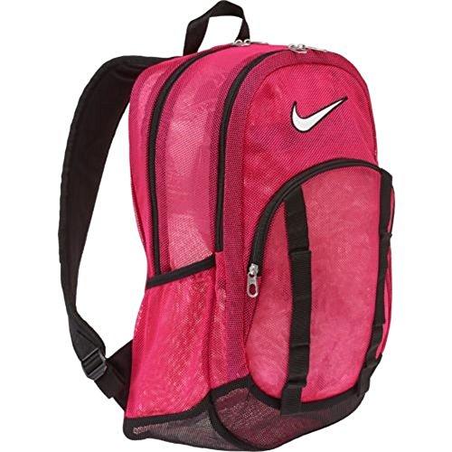 Nike Brasilia 6 Backpack Mesh Large Backpack Vivid Pink/Black/White One Size (Nike Brasilia 6 Large compare prices)