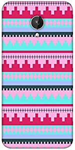 Snoogg Digit Aztec Pink Designer Protective Back Case Cover For Micromax Canvas Spark Q380