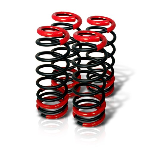 Spec-D Tuning CL-ACD90BK-SD Honda Accord Lx Dx Ex Black Lowering Springs (Lowering Springs Honda Accord compare prices)