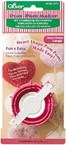 Clover Pom-Pom Makers Heart Shape, Large