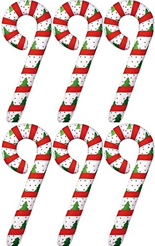 "Set of 6 - 42"" Giant Inflatable Christmas Decorations - Candy Cane -Set of 6 Candy Canes"