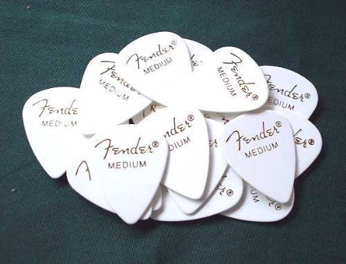 Fender picks × 20 sheets Teardrop MEDIUM-WHT