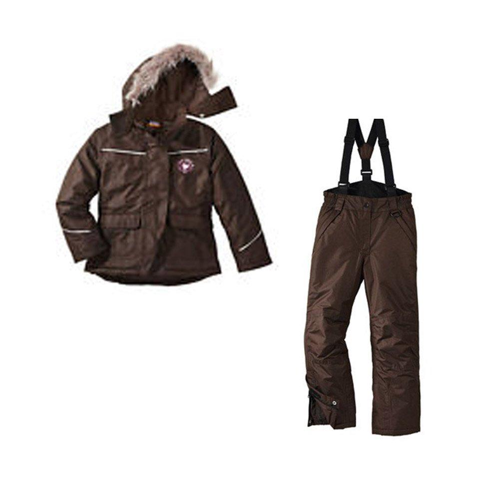 Skianzug 2tlg. Funktioneller Skianzug mit Kapuze für Mädchen Gr. 146-152 Farbe.Braun Schneeanzug Thinsulate Skijacke günstig