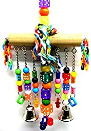 Bonka Bird Toys 879 Medium Chain Waterfall Bird Toy parrot cage toys cages African grey amazon conure