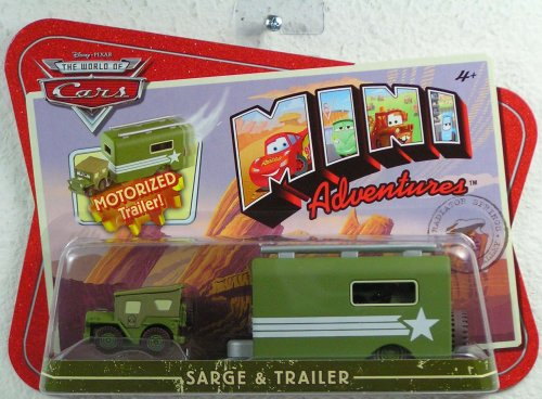 Disney CARS Mini Adventures Sarge With Motorized Trailer - 1