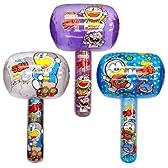 【ビニール玩具】うまい棒ハンマーLサイズ(3種アソート/6個入り)  / お楽しみグッズ(紙風船)付きセット