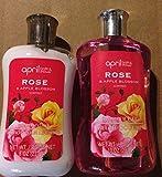 April Bath & Shower Rose & Apple Blossom Body Lotion & Shower Gel