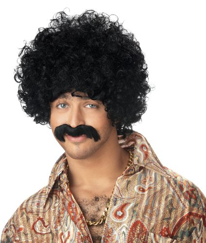 California Costumes Men's How You Doin' Wig & Moustache Costume