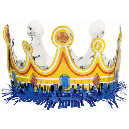 1 Foil Birthday Crown for Boy [Toy]