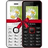 I KALL K66 Dual Sim 4.57 Cm (1.8 Inch) Mobile Phone Combo - K66 (White & Red)
