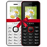 #8: I KALL K66 Dual Sim 4.57 cm (1.8 Inch) Mobile Phone Combo - K66 (White & Red)