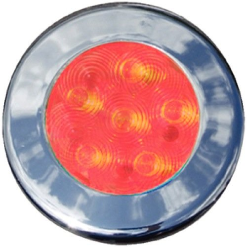 Th Marine Led-51848-Dp 3 Bezels Recessed Puck, Red