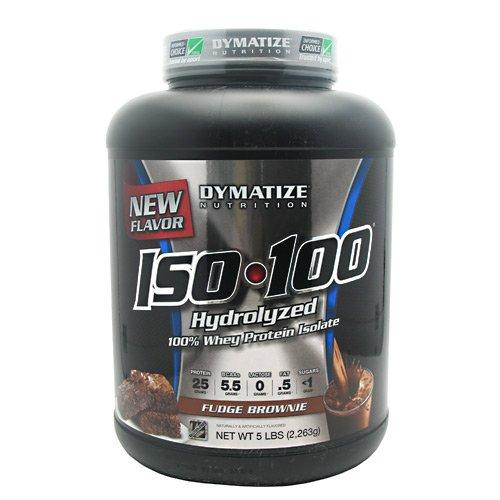 Dymatize Nutrition Iso-100 Fudge Brownie, 5 Pound