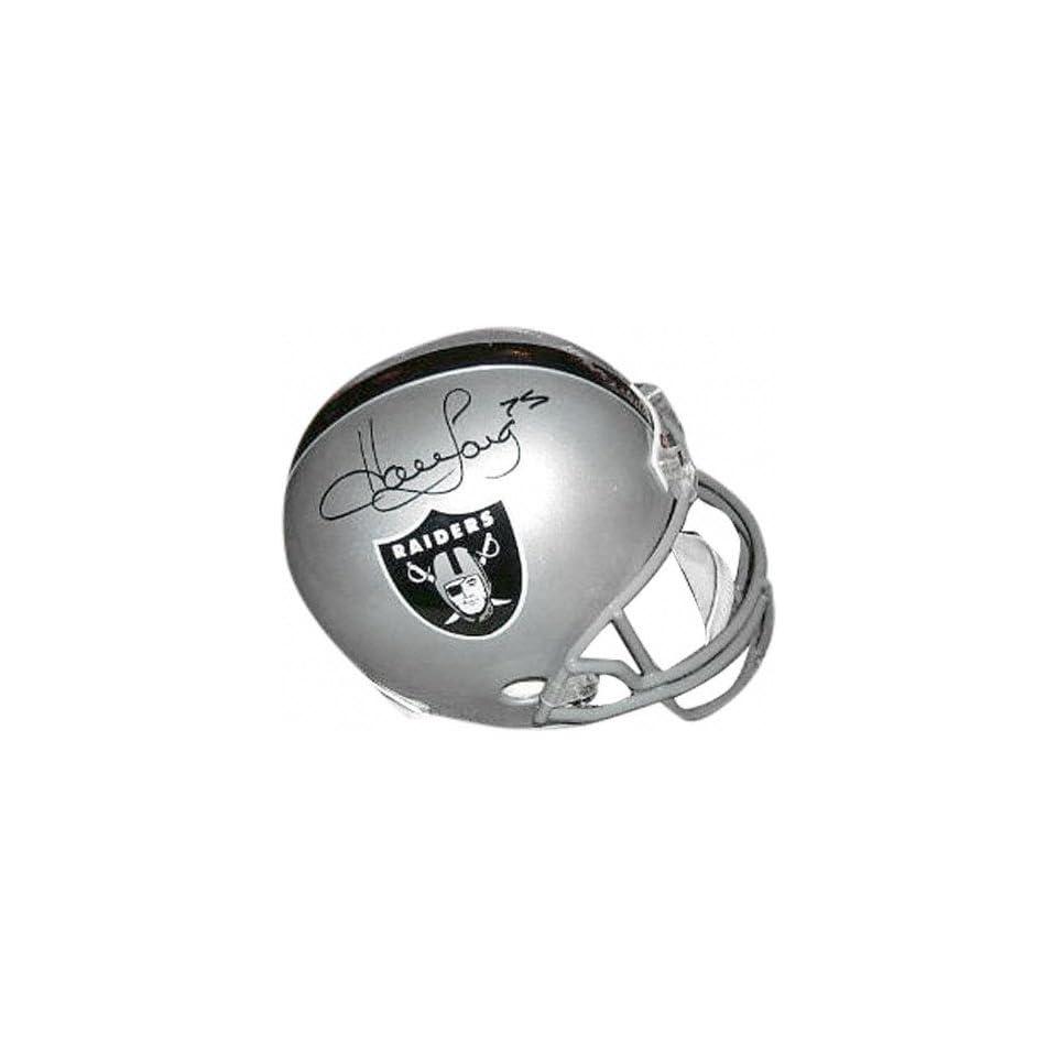 Howie Long Autographed Pro Line Helmet  Details Oakland Raiders, Authentic Riddell Helmet