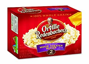 Orville Redenbacher's Gourmet Microwavable Popcorn, Pour Over Movie Theater Butter, 4-Count Boxes (Pack of 6)