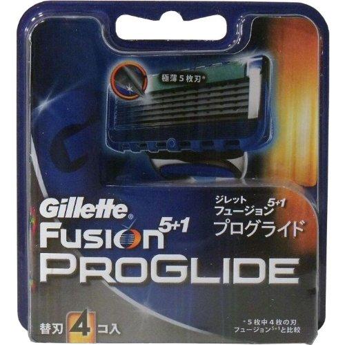 ジレット フュージョン5+1 プログライド 替刃 4個入