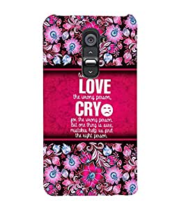 Love Quotation Cute Fashion 3D Hard Polycarbonate Designer Back Case Cover for LG G2 :: LG G2 D800 D802 D801 D802TA D803 VS980 LS980