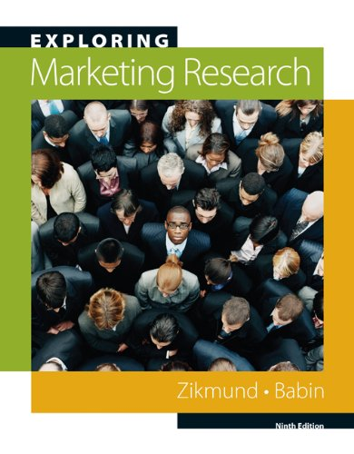 Exploring Marketing Research (Book Only)