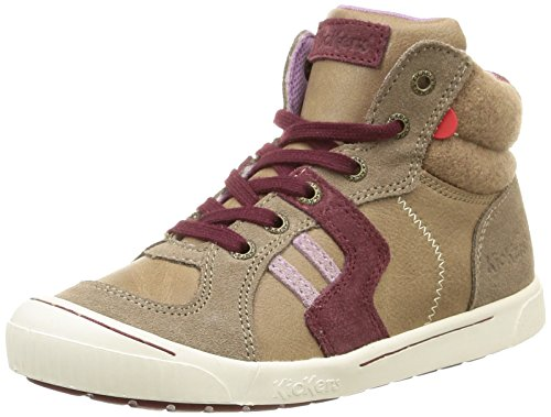 Kickers  Ziguers,  Sneaker ragazza Grigio Gris (Gris Clair) 28