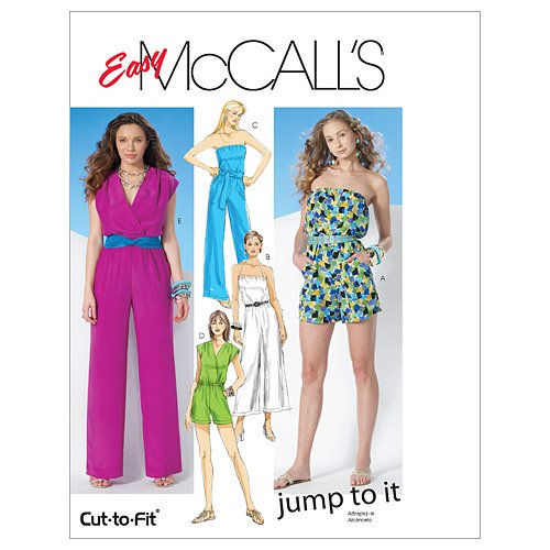 McCall's Patterns M6083 Misses' Jumpsuit In 3 Lengths and Sash, Size AX5 (4-6-8-10-12)