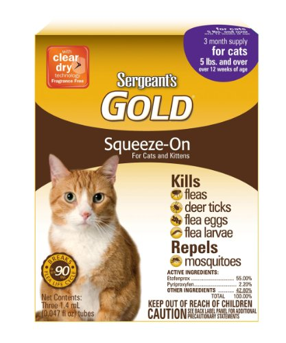 Sergeant S Gold Flea And Tick For Cats Ingredients