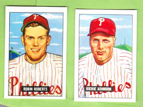1951 Philadelphia Phillies (whiz Kids) Team set 25 cards Richie Ashburn, Robin Roberts FREE BONUS 1948 All Star Game