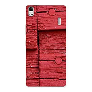 Delighted Nailed Red Wood Designer Back Case Cover for Lenovo K3 Note