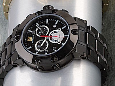 Steinhausen Monte Carlo Swiss Quartz Watch BLACK TW578L