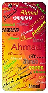 Ahmad (Commendable) Name & Sign Printed All over customize & Personalized!! Protective back cover for your Smart Phone : Samsung Galaxy Note-4