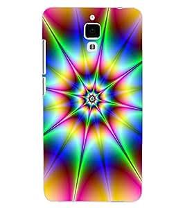 ColourCraft Colour Abstract Design Back Case Cover for XIAOMI MI 4