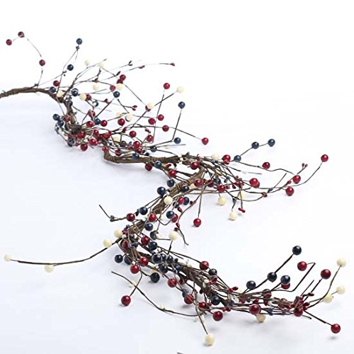 Hand Wrapped Americana Mixed Berry Garland for Home Decor, Crafting and Embellishing