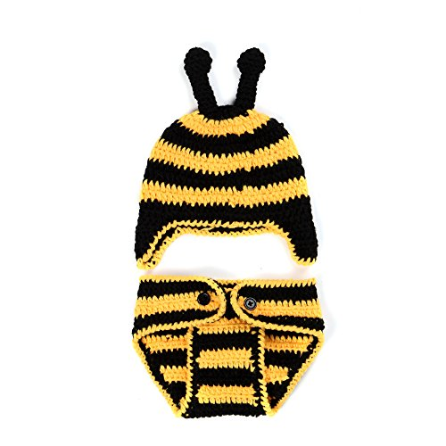 Elee Baby Handmade Crochet Little Bee Photography Prop Outfit (0-12 Months) (#3)