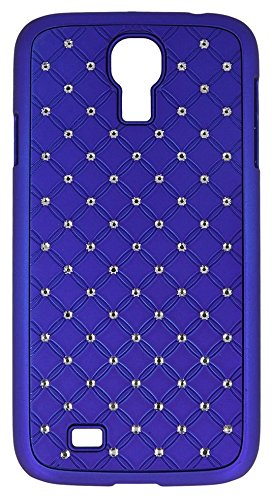 """Handy Back Hard Case Cover """"blau mit Strass"""" für """"Samsung Galaxy S4 Mini La Fleur bzw. Black Edition"""" Handy Tasche Schale Schutz Hülle Bumper Glitzer Bling"""