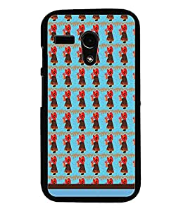 PrintDhaba Girl Pattern D-1556 Back Case Cover for MOTOROLA MOTO G (Multi-Coloured)