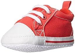 Luvable Friends Basic Canvas Sneaker (Infant), Red, 0-6 Months M US Infant