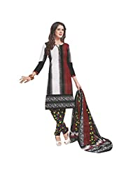 Siddhi Unstitched Cotton Printed Salwar Suit Dupatta Material ( SPAKHE-7AA )