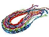 【ミサンガ】3本セット 平編み アミーゴブレス フリーサイズ レディースアンクレット 3-5275