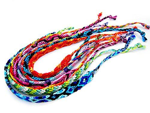 [Bracelets popular place] 3 book set flat braided bracelets アミーゴブレス one-size-fits-all bracelet レディースアンクレット 3-5275