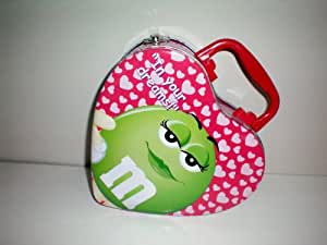 """M&M Purse or M & M Lunchbox Lunch Box [""""In Your Dreams"""" Green M&M on one side, """"Be Mine!"""" Red M&M on one side]"""