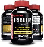 Pure Bulgarian Tribulus Terrestris, Increases Libido, Sex Drive & Stamina, Promotes Natural Testosterone Production, 95% Saponin, 80% Protodioscin, Highest Potency on Amazon, 1000mg - 90 Capsules