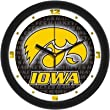 Iowa Hawkeyes Suntime 12&quot; Dimension Glass Crystal Wall Clock - NCAA College Athletics