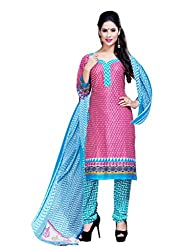 Women Icon Crepe Pink,White Printed Women's Suit WICKFSWTHR615017