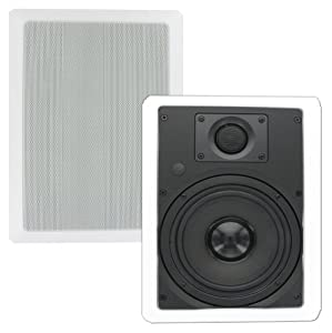 Theater Solutions TS65W 6.5-Inch In Wall Surround Sound HD Home Theater Rectangular Kevlar Speaker Pair