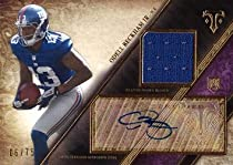 2014 Topps Triple Threads Relics Purple #52 Odell Beckham Jr. Certified Autograph Game Worn Jersey Football Rookie Card - Only 75 made!