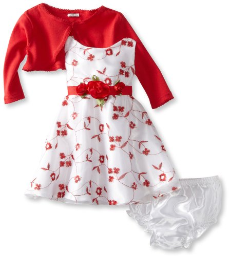 Top Deals Youngland Baby Girls Infant All Over Embroidered Dress And