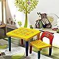 Children Kids Alphabet Learn & Play Table & Chair Set Children Furniture Educational Gift Christmas Gift Secret Santa by alphabet