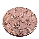 (イスイ)YISHUI 2PCS 風水 中国古銭 清王朝 ダブルドラゴン貨幣 開運 コイン お守り 護符 feng shui Y1146 [並行輸入品]